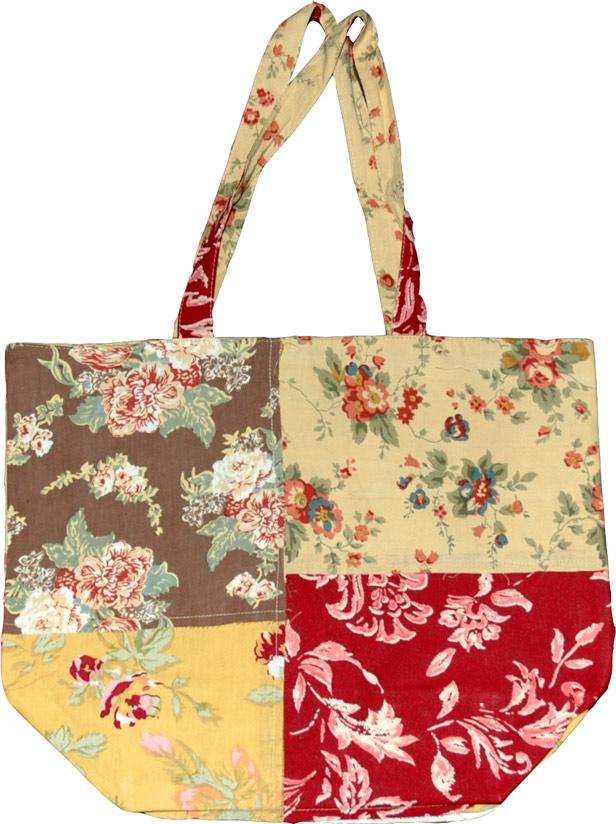 Reversible Reusable Cotton Bag, Reusable Shopping Bag in Cotton
