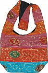 Indian sequin handbag purse with patchwork, nice casual handbag for women [3024]