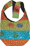 Ethnic Handbag Purse with Sequins