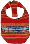 Bohemian Bag in Red Orange with Mirrors