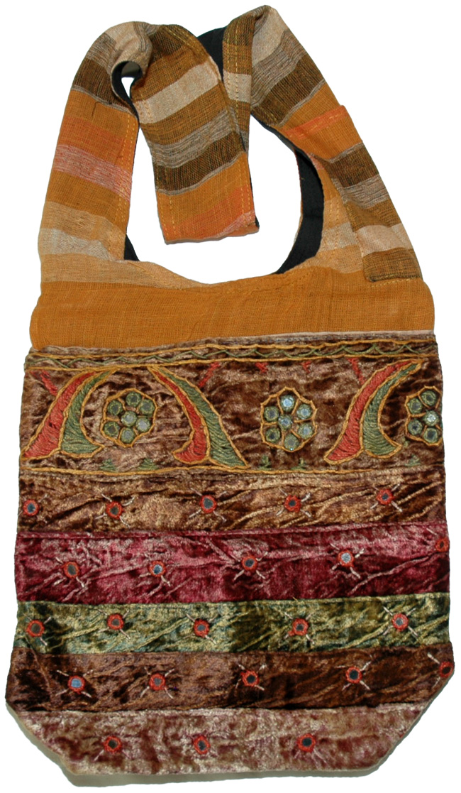 Handmade Indian Shoulder Bag, Bohemian Shoulder Bag Velvetty