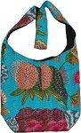 Floral Coral Print Shoulder Bag