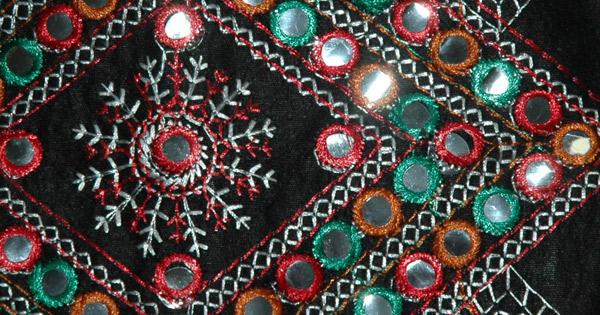 Woodsmoke Embroidered Black Bag
