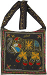 Onyx Black Bag with Sequins and Chain Stitch Embroidery Work