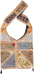 Sling Bag with Bohemian Style Patchwork and Tassels