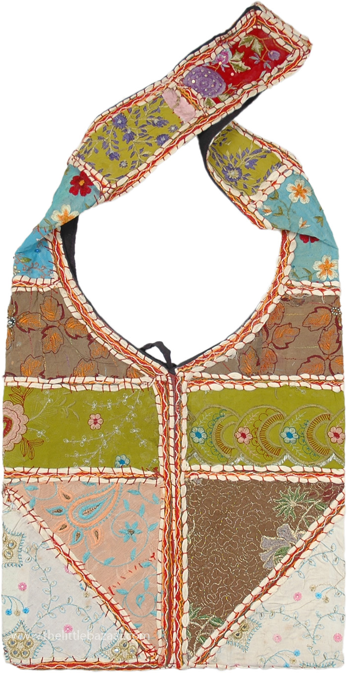747ae11a28f9 Colorful Gypsy Life Vibe Sling with Patchwork Bag