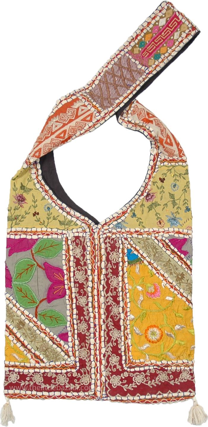 8bfeab7615df Similar styles  Cut Work Applique Bag in Boho Saffron