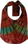 Tie Dye Mixed Colors Indian Shoulder Bag  [4448]