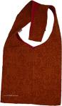 Cut Work Applique Bag in Boho Saffron