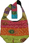 Bohemian Handbag Purse with patchwork and sequins
