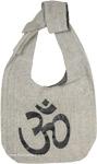 Yoga Om Symbol Shoulder Bag in Grey and Black