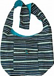 Blue Striped Shoulder Sling Bag