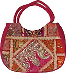 Patchwork and Sequins Shoulder Bag
