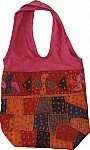 This handbag handmade made from multicolor patches- Handbag womens in rich and vibrant colors [634]