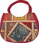 Pink Patchwork Sequined Purse Bag