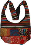 Multicolored Gypsy Side Sling Bag with Patchwork