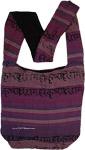 Purple Sling Handloom Cotton Yoga Bag