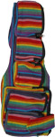 Rainbow Side Sling Bag with Multiple Zipper Pockets