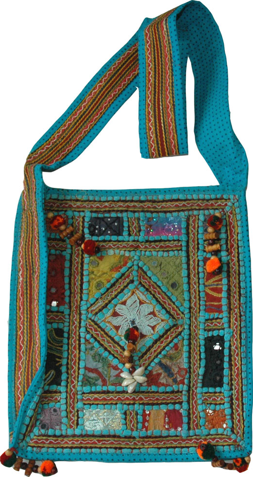 Blue Summer Shoulder Bag