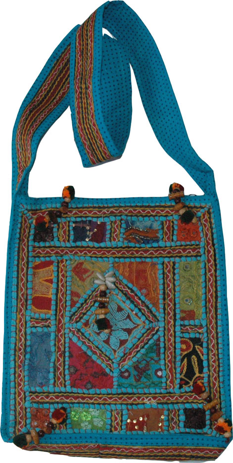 Venice Blue Patchwork Handbag