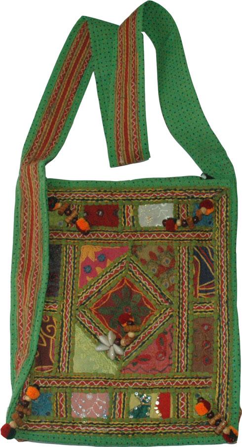 Cloth Handbag Purse Indian, Goblin Patchwork Book Bag