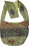 Bohemian Sequin Shoulder Purse Bag Green