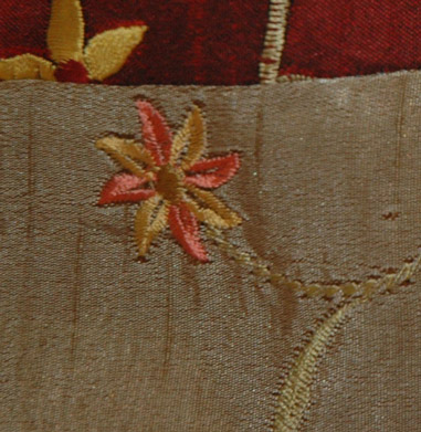 Embroidered Earthen Silk Purse