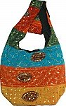 Fabric Handbag with Sequins