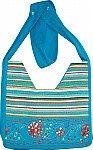 Bahama Blue Striped Handbag