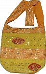 Yellow Shoulder Bag with Sequins