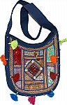 Navy Patchwork Handbag