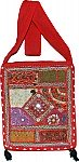 Red Patchwork Bohemian Handbag