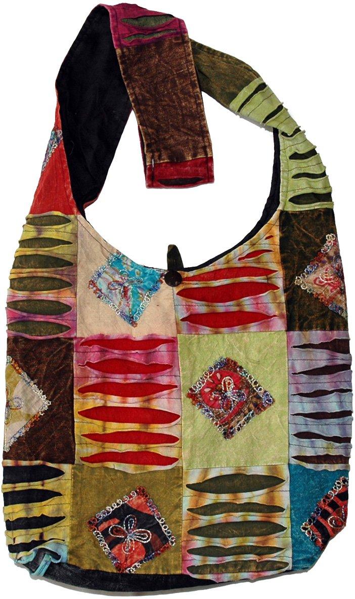 bohemian eclectic tie dye shoulder bag purses bags patchwork
