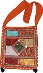 Orange Patchwork Bohemian Handbag