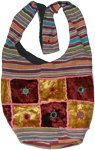 Golden Maroon Boho Shoulderbag
