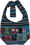 Patch Work Bohemian Sling Bag with Bold Stripes