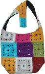 Rainbow Patchwork Handbag