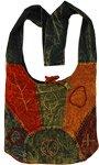 Stone Wash Embroidered Handbag