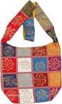 Satin Hand Stamped Gypsy Festival Handbag