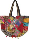 Colorful Vintage Banjara Embroidered Tribal Large Tote