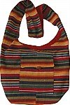 Multicolored Striped Book Bag