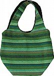 Handloom College Sling Bag in Green
