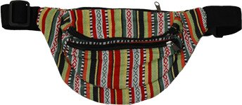 Multicolored Boho Money Fanny Bag with Zipper Pocket