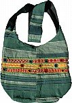 Embroidred Handbag Purse w/ Mirrors