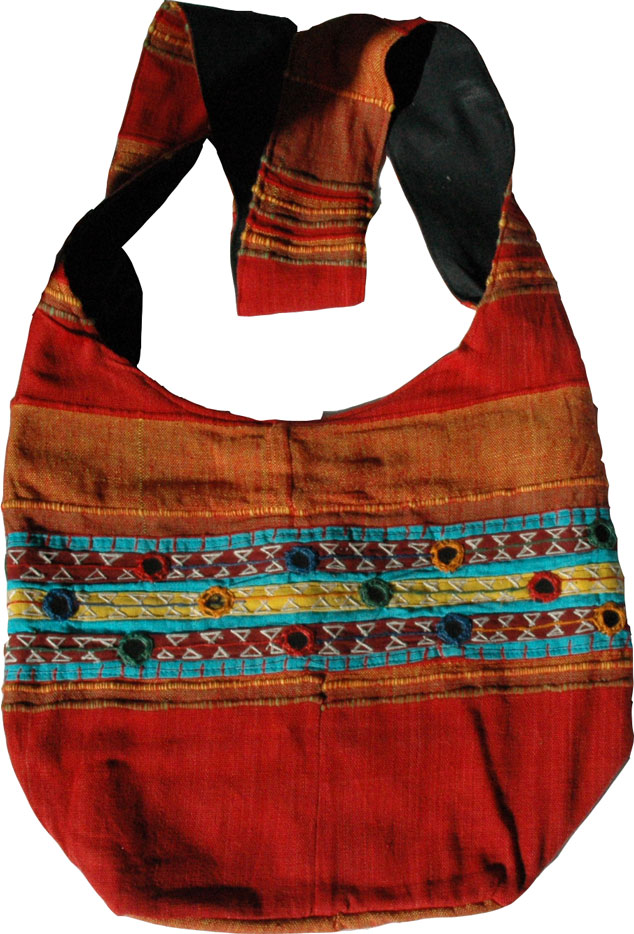Red-Orange Bohemian Handbag