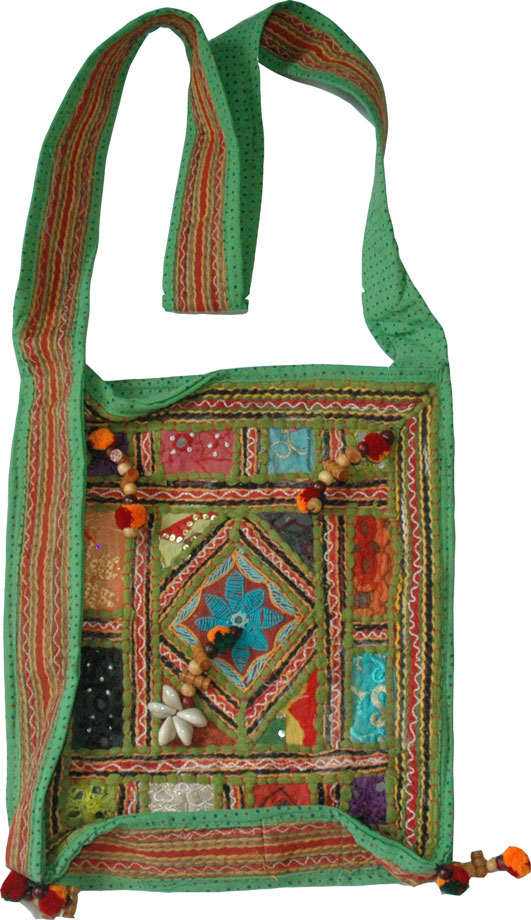 Hand Embroidered Shoulder Bag
