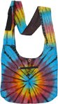 Star Burst Tiedye Cotton Cross Body Sling Bag