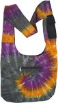 Eclipse Swirl Tie Dye Cotton Shoulder Bag