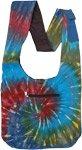 Vibrant Wave Tie Dye Cotton Shoulder Bag