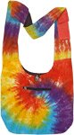 Dreamy Color Burst Tie Dye Cotton Shoulder Bag